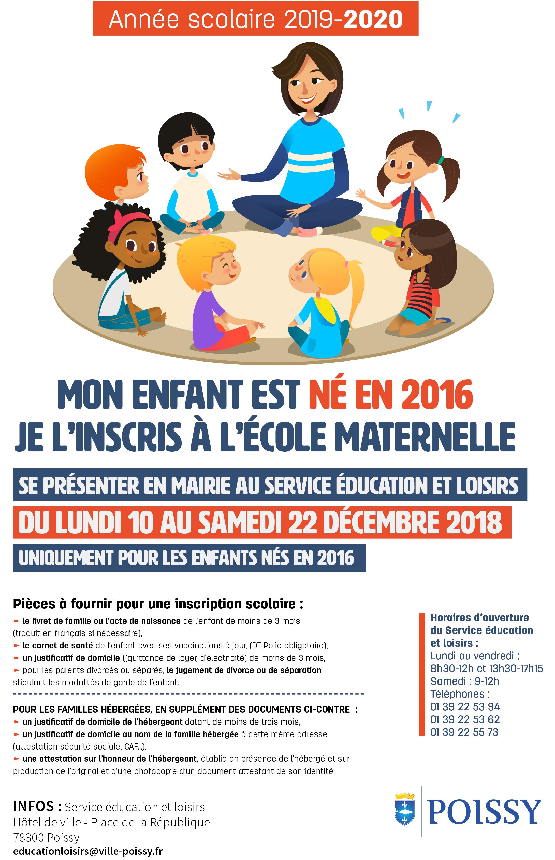 Inscriptions Maternelles Pour L Annee Scolaire 2019 2020 Ville De