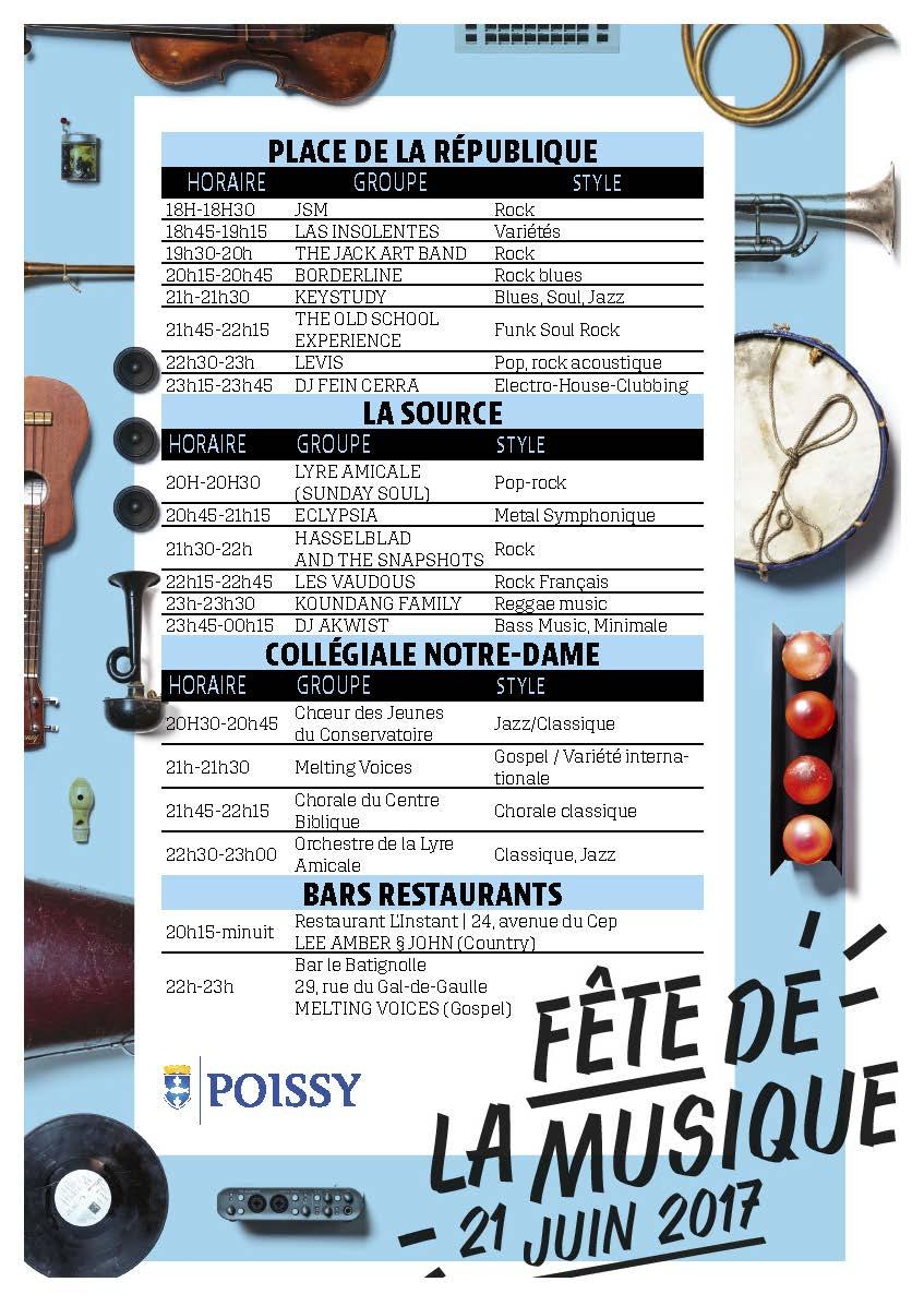 F te de la musique ville de poissy - Fete de la musique 2017 date ...