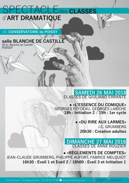 Spectacle des classes d 39 art dramatique du conservatoire for Art dramatique