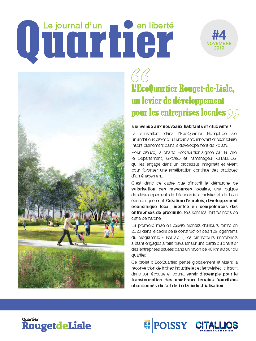 Journal EcoQuartier Rouget-de-Lisle n°4